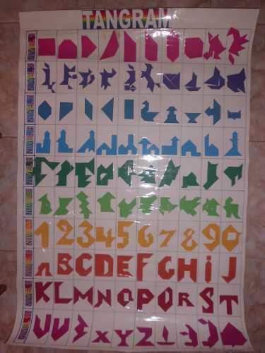 Tangram cuadrado juego didáctico escolar de mesa