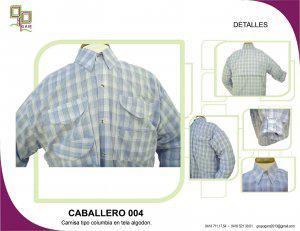 Fabricamos camisas y chemise tipo columbia y tradicionales