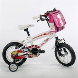Bicicleta niños rin 12 blanca y roja con negro