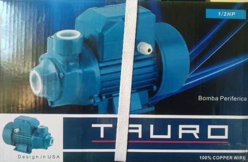 Bomba de agua periferica tauro 1/2hp diseñada en usa