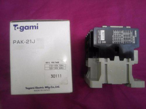 Contactor electrico 110v, 32amp, 3 polos. japones