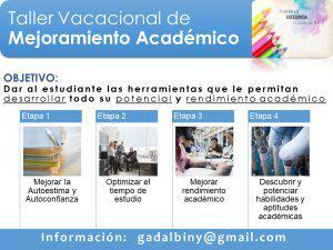 Curso vacacional de mejoramiento académico en caracas