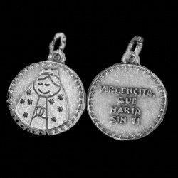 Medallitas virgencita y angelito plis bautizos, cumpleaños,