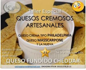 Taller especial quesos cremosos comerciales 14 al 16 de
