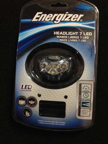 Linterna de cabeza frente energizer 7 leds 58 lumens vision