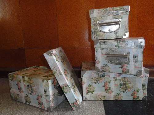Cajas para guardar, decorativas, resistentes con tapas