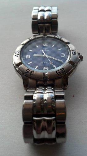Elegante reloj caballero marca finart esfera azul