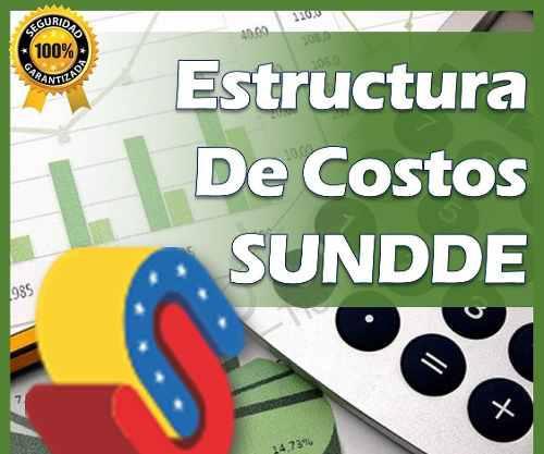 Estructura De Costos Sundde Plantilla Excel 2019
