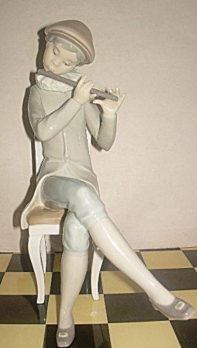 Figura de porcelana lladro el flautista en perfecto estado