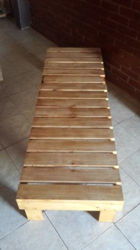 Silla tumbona de madera pino 1ra. calidad
