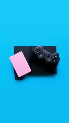 Playstation 2 slim + control inalámbrico + juegos