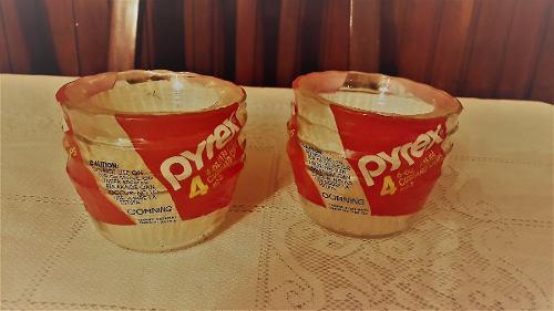 PYREX 4 REFRACTARIO FLANERAS 6 OZ VIDRIO REFRACTARIA, usado segunda mano  Sucre-Sucre (Sucre)