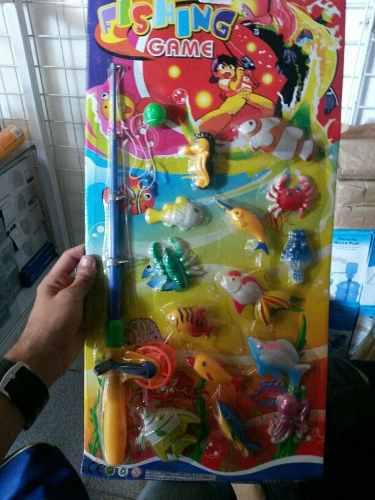 Set de pesca juguete caña de pescar y peces nuevo. regalo