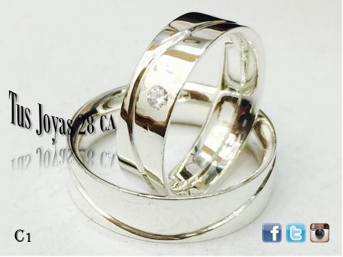 Anillos de matrimonio plata 925 aros de boda plata 925 c
