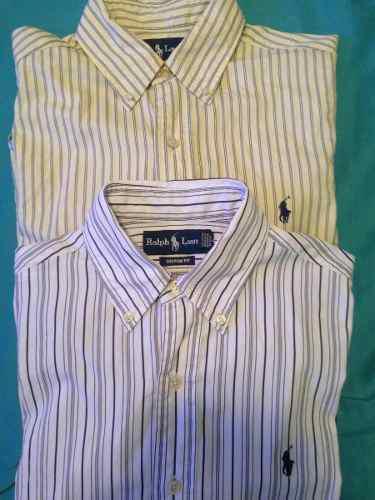 0ac2651f6bf1f Camisa manga larga polo ralph lauren talla s custon fit