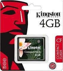 Memoria compactflash kingston del 4gb nuevo y original