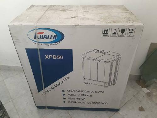 Lavadora doble tina semi automatica 6 kilos khaled