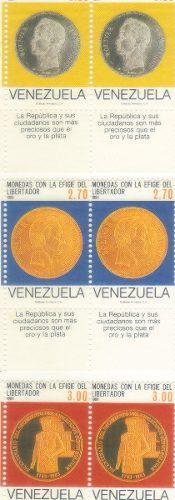 Monedas efigie libertador 1985 venezuela