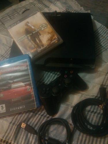 Playstation 3 slim 160gb +1 control juegos