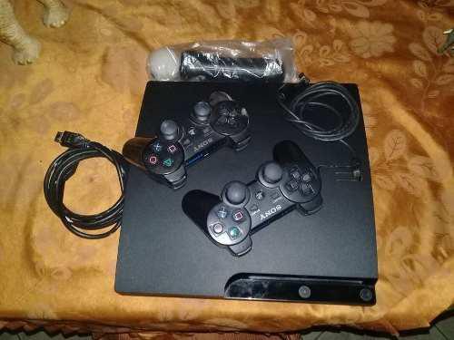 SONY PS3 SLIM 160GB 2 CONTROLES + MOVE PAD CABLE HDMI segunda mano  Simón Bolívar-Miranda (Miranda)