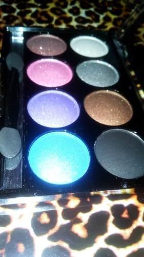 Sombra escarchada glitter paleta brillante parpados