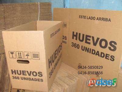 Cajas usadas para embalar huevos