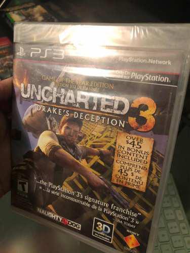 Juego play 3 uncharted 3 ps3 nuevo sellado