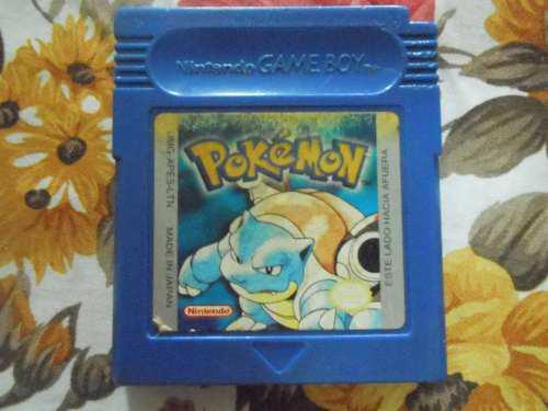 Juego game boy pokemon edición azul (dañado)