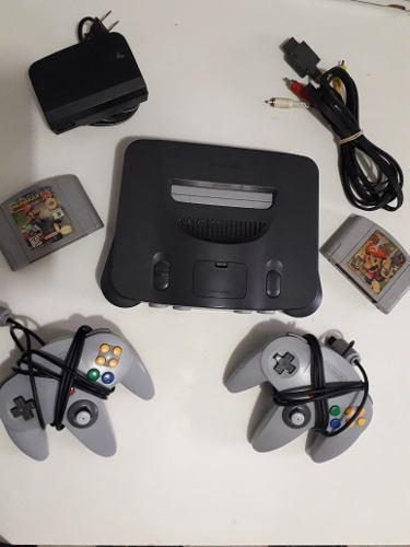 Nintendo 64 + 2 controles + 2 juegos completamente funcional