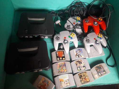 Nintendo 64, 2consola, 4 controles, mas 9 juegos nintendo