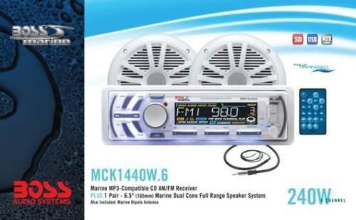 Reproductor combo marino boss con cornetas mck1440w.6