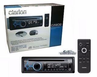 Reproductor mp3 usb aux radio cd clarion cz202 ipod iphone