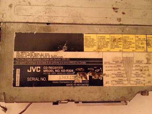 Reproductor jvc kd r328 cd mp3