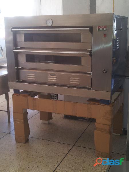 Horno pizzero panadero industrial de dos cámaras