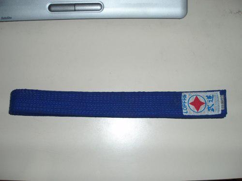 Cinturon de taekwondo lopfre azul oscuro