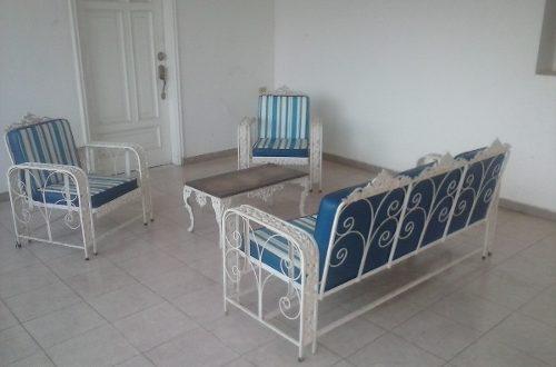 Muebles de jardin de hierro pendulares