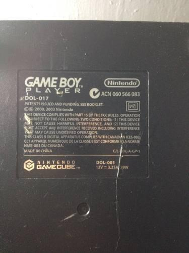 Nintendo gamecube gameboyplayer ¡lea la descripción!