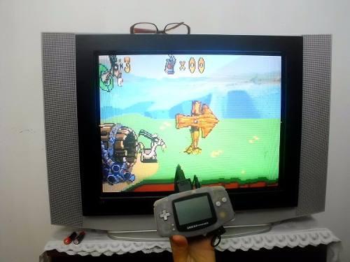 Game boy advance con adaptador para tv con 3 juegos