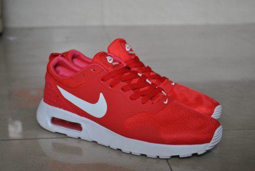 Kp3 zapatos caballeros nike air max tavas rojo