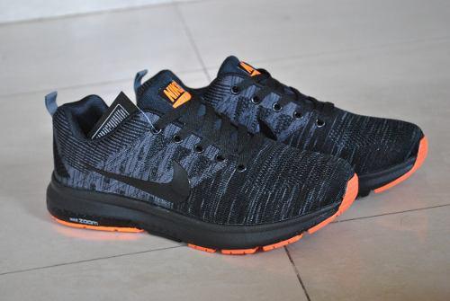 Kp3 zapatos caballeros nike air zoom negro naranja