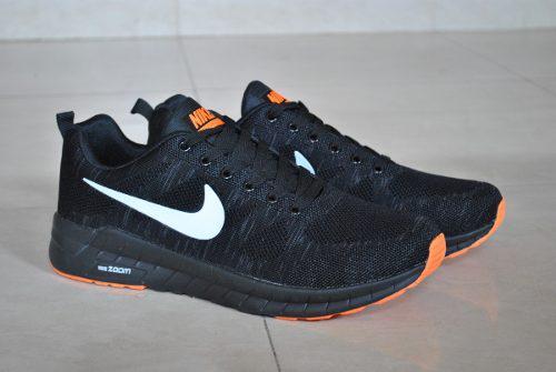 Kp3 zapatos caballeros nike air zoom negro naranja blanco