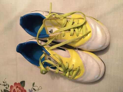 Tacos futbol niños adidas original talla 12