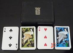 Cartas para poker kem plastic playing cards, doble baraja de 54 cartas cada uno