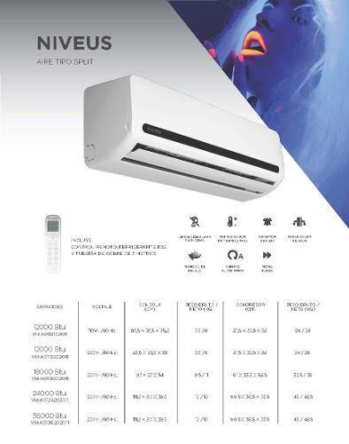 Aire acondicionado split 36000 btu 220v viotto