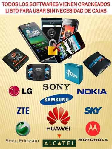 Programas teléfonos celulares + modem pack 50 softwares tsa