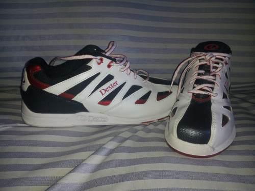 Zapatos De Bowling Boliche Dexter Nuevos Talla 10 Blancos