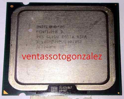Procesador pentium d 945 3.40ghz bus 800 socket 775