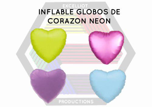 Inflables globos de corazones unicolor al mayor