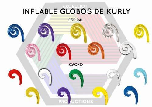 Inflables globos de curly espiral wave al mayor