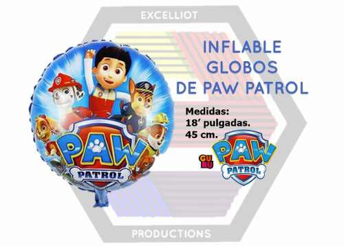 Inflables globos de paw pratrol al mayor